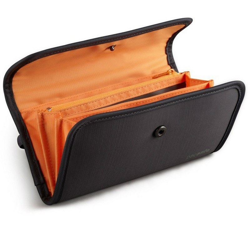 0b7bd0ff7f096 Pacsafe portfel RFID-tec 250 z ochroną RFID  24h GRAY